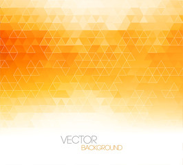 Abstract orange light template background