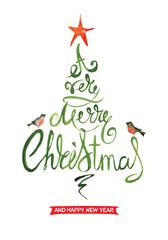 Christmas background, postcard -- abstract christmas tree