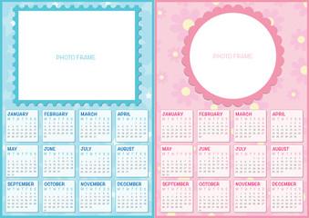double baby calendar 2016