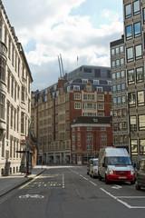 Wall Murals New York Quiet city street in London, England