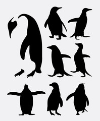 Penguin bird animal silhouettes. Good use for symbol, logo, web icon, mascot, or any design you want. Easy to use.