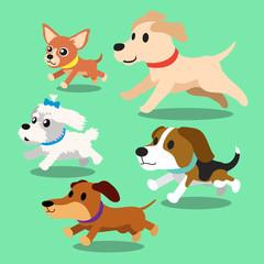 Cartoon dogs running