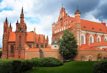 Autocollant pour porte Cracovie Vilnius, Church of St. Anne
