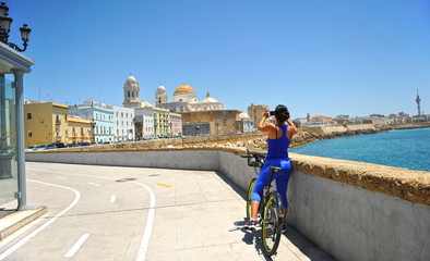 Cadiz by bicycle, Andalusia, Spain