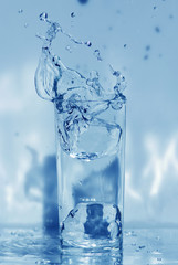 water glass isolated