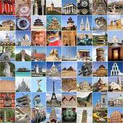 World famous landmark collage
