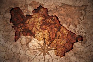 vintage turkmenistan map