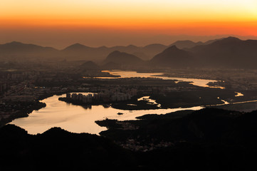 Barra da Tijuca View by Sunset