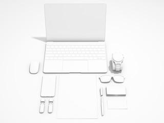 White corporate identity template