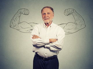 Portrait of a strong Old Man Wall mural