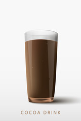 cocoa drink a glass