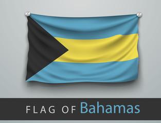 FLAG OF bahamas battered, hung on the wall