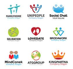 Couple Person Symbol Design