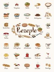 Handgezeichnete Rezeptbildchen (auf deutsch)