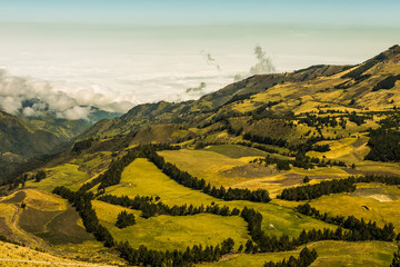 Andean landscape south america