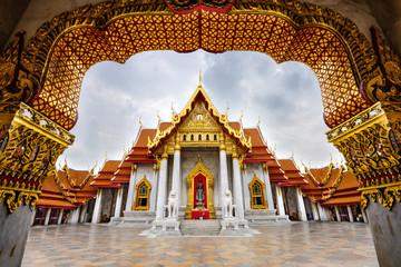 Garden Poster Temple Marble Temple of Bangkok