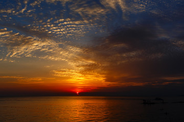 Beautiful sea sunset.