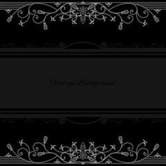 vintage background frame design black