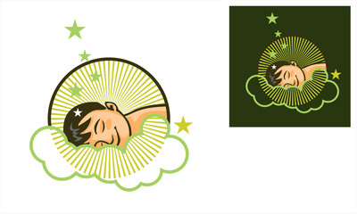 sleep on the cloud vector