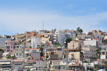 High density housing in Athens, Greece