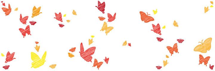 Bunte Schmetterlinge | skizziert