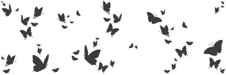 Silhouetten von Schmetterlingen