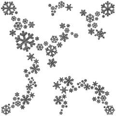 Skizzierte Schneeflocken