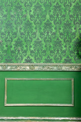 Rich interior retro room with vintage patterns