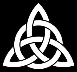 3 point Celtic Trinity knot (Triquetra) interlaced with a circle for your logo, design or project (vector illustration)
