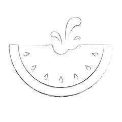 Kreidezeichnung Melone