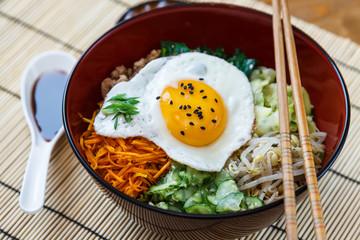 bibimbap with sauce, korean dish