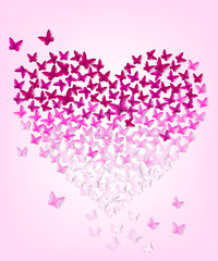 butterflys in the form of heart,eps 10.