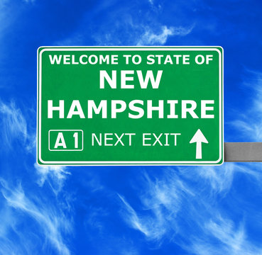 NEW HAMPSHIRE road sign against clear blue sky
