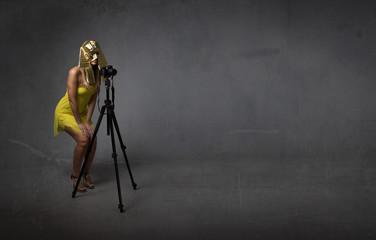 pharaoh photographer with tripod