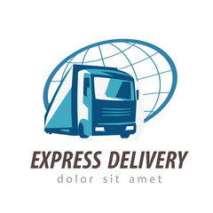 delivery vector logo design template. transport or truck icon