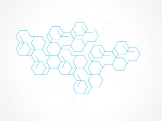 Vector design abstract background hexagon.