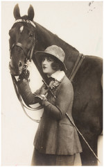 portrait of woman with horse.