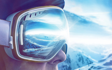 Foto op Plexiglas Wintersporten Winter Sports Enthusiast