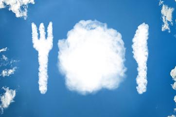 Gedeck aus Wolken