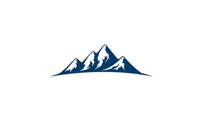 mountain, nature, green, landscape, sun, eco, vector, logo,