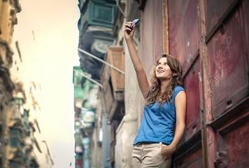 Woman doing a selfie