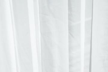 White textile curtain