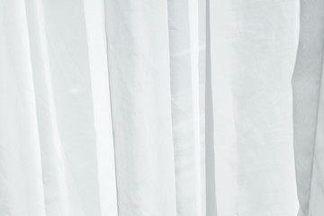 White fabric curtain with little crease