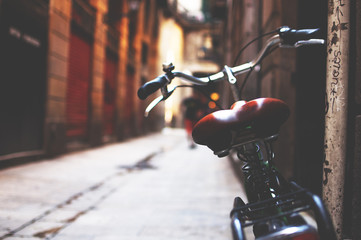 Bike in the streets of Barcelona