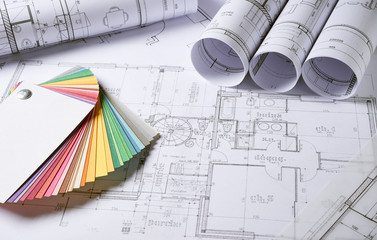 Architecture plans Wall mural