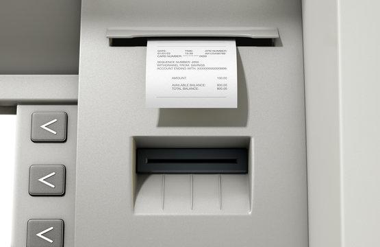 ATM Slip Withdrawel Receipt