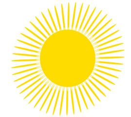 Sun with rays illustration