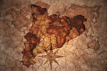 vintage catalonia map