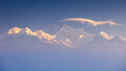 Kanchenjunga range peak