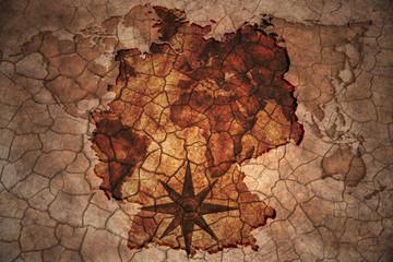 vintage germany map